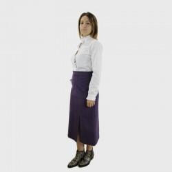 2-Saintra - Falda pana midi evasé violeta